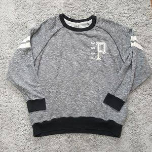 [PINK] Gray Crew Neck Sweatshirt